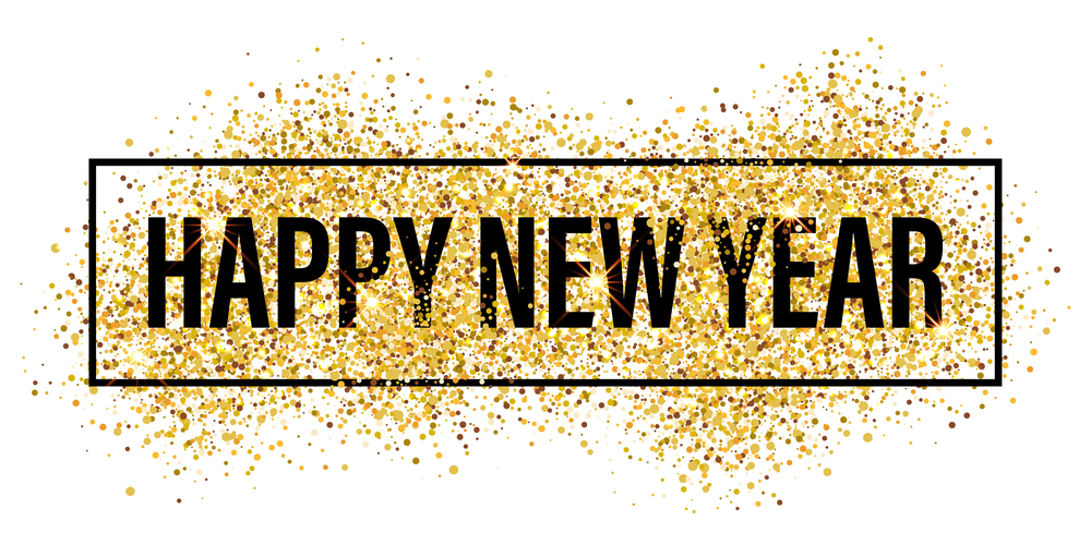 gold glitter happy new year background happy new year glit